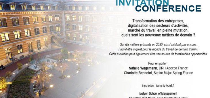 """Espace impulsion anime la conférence """"transformation des entreprises, quels nouveaux métiers de demain"""""""